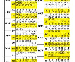 Pay Period Calendar 2019 By Calendar Year Free Printable