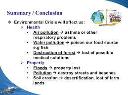Conclusion About Pollution Essay