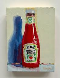 Karen Barton - Ketchup Please, Oil Painting For Sale at 1stDibs