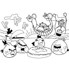 Kleurplaat Angry Birds