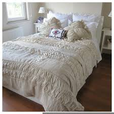 ruched bedding shabby cottage chic duvet cover full queen throughout designs 0