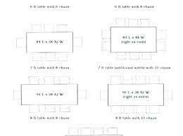 dining table sizes in cm