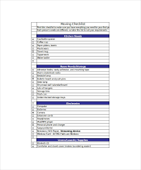 Moving Checklist Template 19 Word Excel Pdf Documents Download