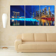 office wall paintings. 3 Piece Canvas Wall Art Landscape Paintings Modern Office