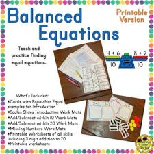 worksheets equations 1st grade page 1