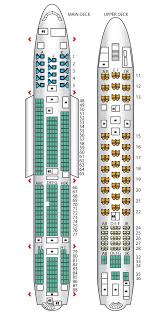 Air France A380 800 Seat Chart Seat Map Airbus A380 800 Air France Best Seats In Plane