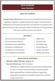 Blue Collar Resume Objective A Good Resume Example