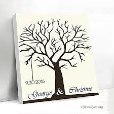 Guest Sign Book Custom Guest Book For Wedding Fingerprints Tree Guestbook Sign