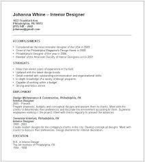 interior design resume template word interior design resume template design resume examples interior