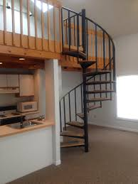 loft spiral staircase.  Staircase Having A Spiral Staircase Leading Up To Loft Featuring Skylights Is  Pretty Cool Here Our Newest Rental Complete With New Floors And Carpets Sure  With Loft Spiral Staircase E