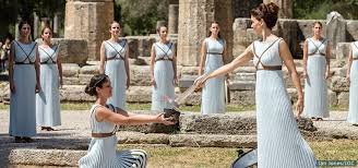 flame lighting olympics. the olympic torch lighting ceremony for rio 2016 games took place on april 21, in olympia, greece. flame olympics o