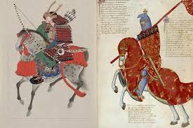 Samurai Vs Knight Venn Diagram Comparing Japanese And European Serfdom