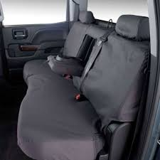 covercraft rear seat cover seatsaver charcoal for 60 40 split bench seat double cab chevrolet