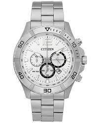 citizen citizen macy s citizen men s chronograph quartz stainless steel bracelet watch 44mm an8120 57a a macy s exclusive