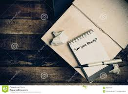 are you ready written on the paper on a wood background stock are you ready written on the paper on a wood background