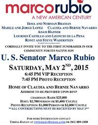 political fundraiser invite here s the invitation to candidate marco rubio s first miami