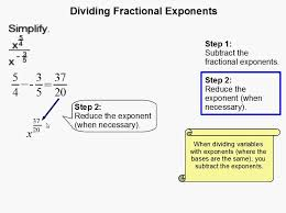 How to Divide Fractional Exponents - YouTube
