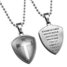 solr of christ man necklace stainless steel cross within necklaces