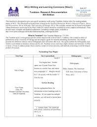 Wcu Writing And Learning Commons Walc Turabian Research