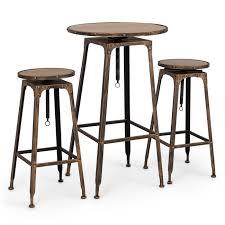 pc adjustable pub table w stools vintage antique bistro high