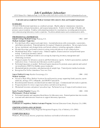 Example Of Medical Assistant Resume 7 Entry Level Medical Assistant Resume Examples Business