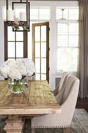 i think this will be happening in my future rustic farmhouse table paired with sleek fabric dining chairs by linda mcdougald design postcard from paris
