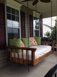 Porch Swing Bed Wood Its Real Southern Yellow Pine Porch Bed Swing Wood