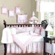 white crib bedding set modern black