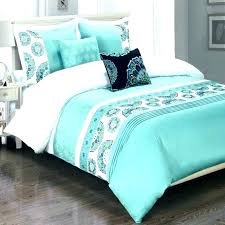 turquoise white bedding with black trim comforter ng set green and gray purple