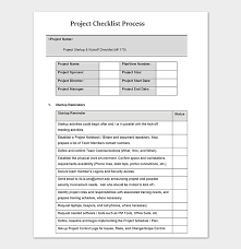 Process Template Process Checklist Template 20 Editable Checklists Excel Word Pdf