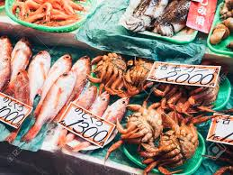 Fresh Seafood From Japan Fish Market ...