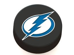 3D Printed Tampa Bay Lightning logo on ice hockey puck by Ryšard ...