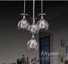 pendant lighting contemporary. Popular Crystal Pendant Lighting In Modern G4 Glass Shade Lights Restaurant Decorations 4 Contemporary P