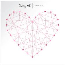 DESCRIPTION: I wanted to feature the string art heart template without the  jewel brads to show there are different ways the template can be used!