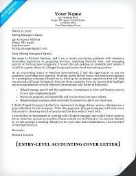 Cover Letters For Accounting Best Accounting Cover Letters Cover