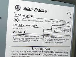 new allen bradley 512 bab 6p 24r nema combination starter new allen bradley 512 bab 6p 24r nema combination starter disconnect type nema