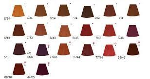 Wella Koleston Red Color Chart Wella Koleston Perfect Reds Salon Hair Color Hair