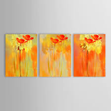 Oil Paintings For Living Room Modern Oil Painting Abstractmodern Abstract Yellow Red Floral