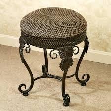 bronze vanity chair bathroom vanity stool with ivory velvet tufted seat and mirror tapered legs oiled bronze vanity stool