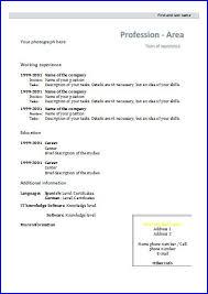 Formal Resume Template Cv Templates Design 4 Resume Templates Printable