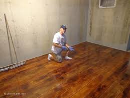 Concrete Wood Floor Stained Concrete Basement Floor Akiozcom