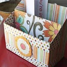 Paper filing boxes Decorative Make Stationery file With Couple Of Cereal Boxes Scissors Pretty Paper And Glue Its The Ultimate Accessible Recycling Project Easy Enough For Even Bob Vila Diy Filing Solutions Paper Storage Control The Chaos Bob Vila