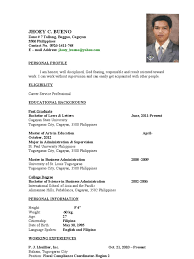 Sample Resume Format Download