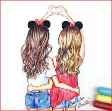 Cute Bff Kawaii Easy Girl Drawings Wwwgalleryneedcom