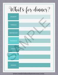 menu planner printable free printable weekly meal planner eat drink and save money