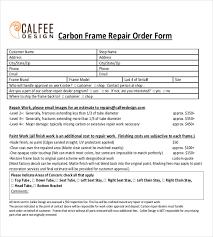 23 Repair Order Templates Free Sample Example Format Download