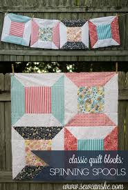 Classic Blocks: Fresh Fabric for October... Spinning Spools ... & Classic-Spool-Quilt-Block-t.jpg Adamdwight.com