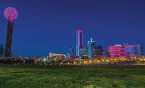 Downtown Dallas Purple Lights How Downtown Dallas Buildings Light Up Your Life D