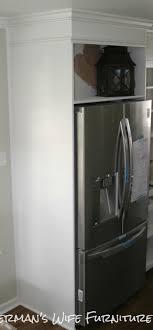 Kitchen Cabinets Refrigerator Fishermans Wife Furniture Diy Refrigerator Enclosure