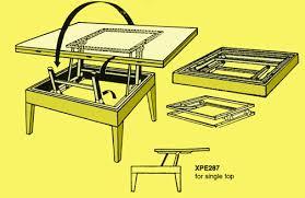 diy lift top coffee table mechanism